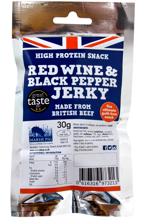 Red Wine and Black Pepper Jerky